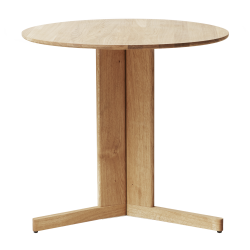 Form & Refine Trefoil Bord Ø75, hvidolieret eg
