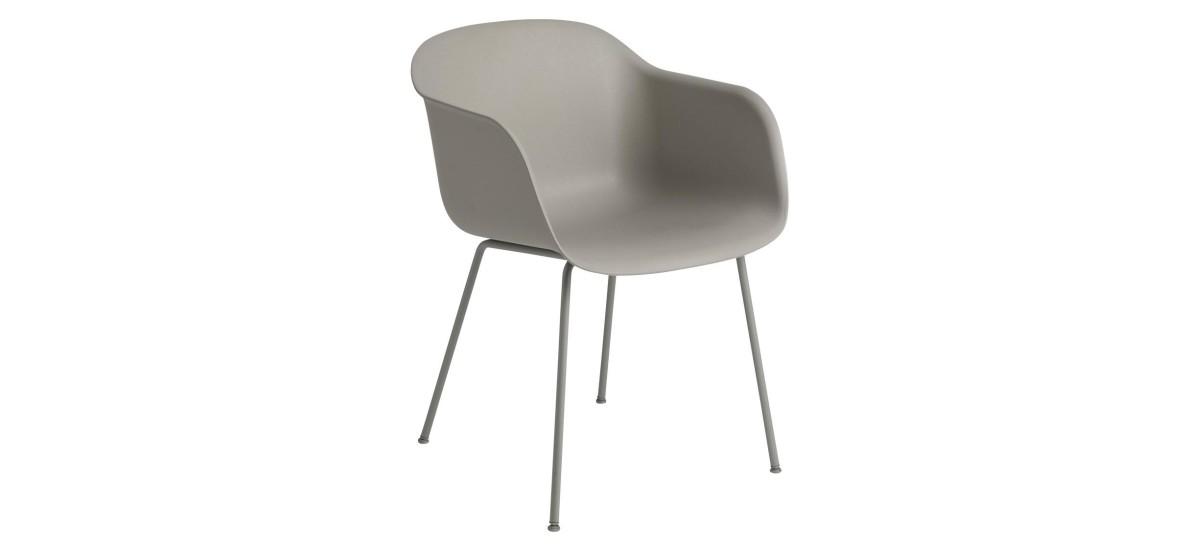Muuto Fiber Arm Chair Tube · Grå/Grå