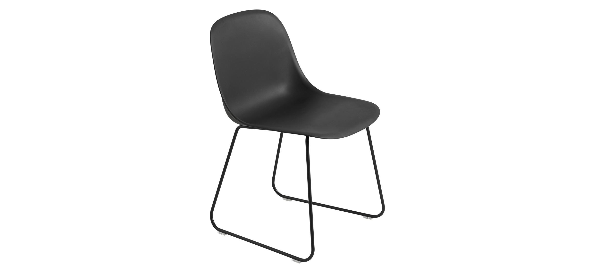 Muuto Fiber Side Chair Sled · Sort/Sort