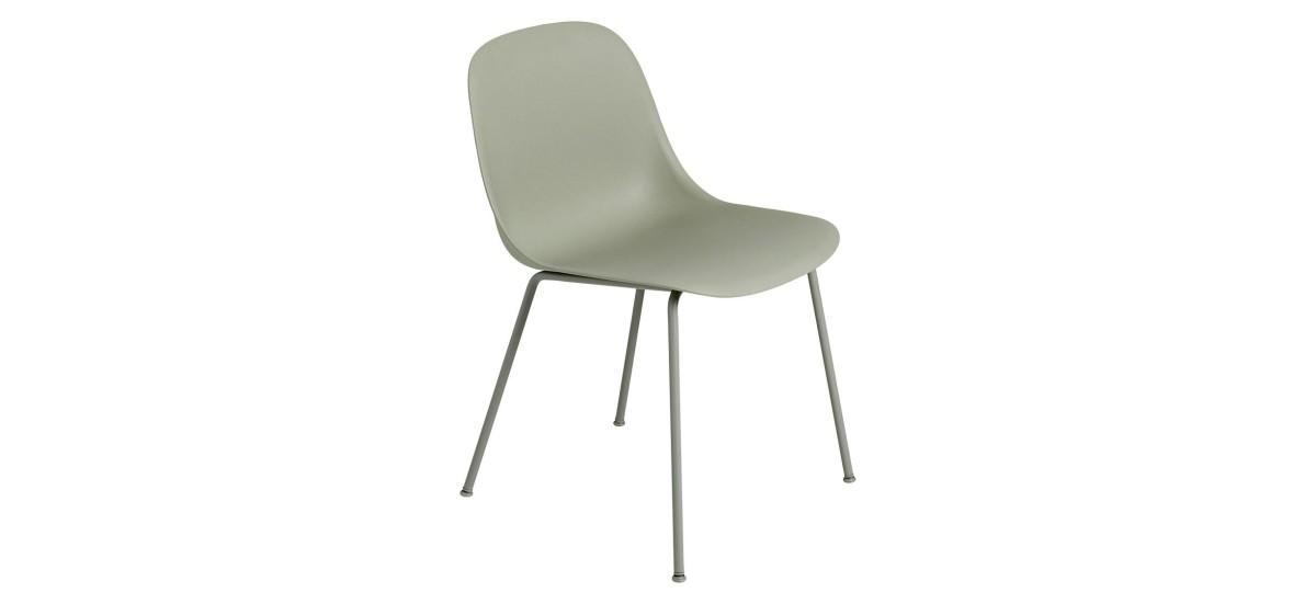 Muuto Fiber Side Chair Tube · Dusty Green/Dusty Green