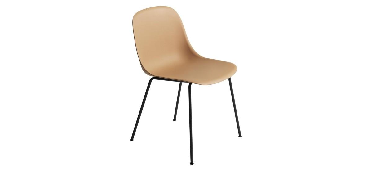 Muuto Fiber Side Chair Tube · Ochre/Sort