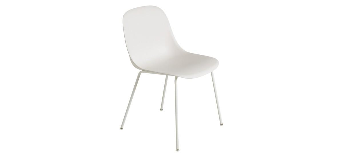 Muuto Fiber Side Chair Tube · Natural Hvid/Hvid