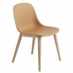 Muuto Fiber Side Chair Wood · Ochre/Eg