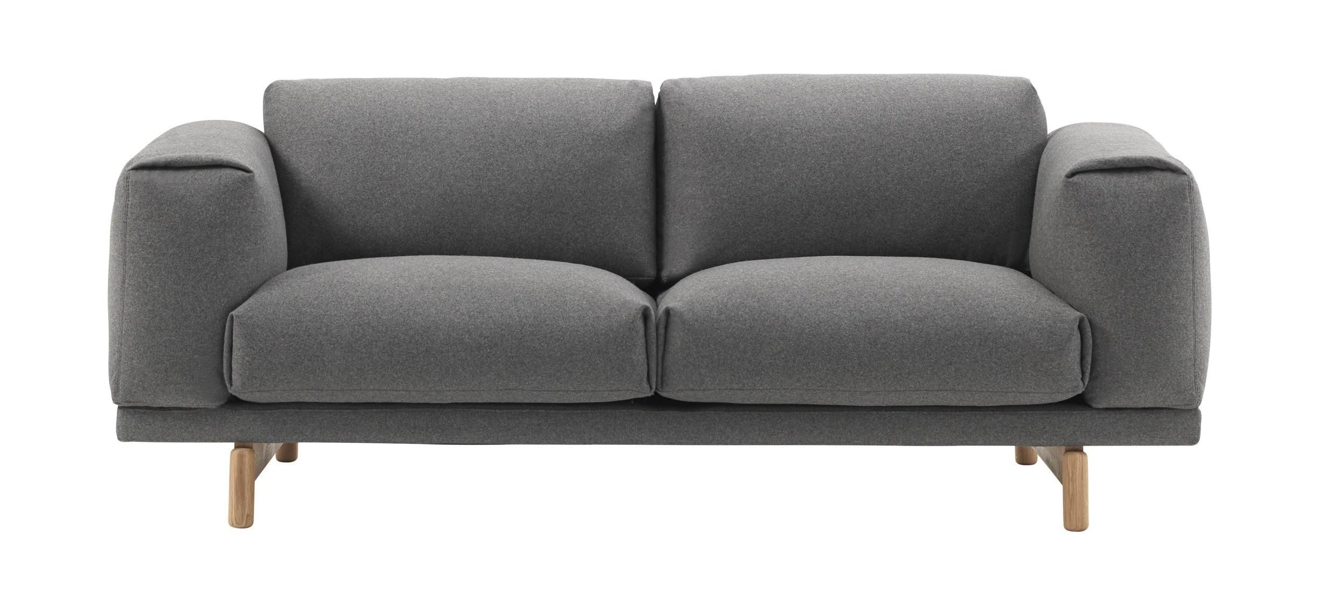 Muuto Rest Sofa · Wooly 2256 · 2 Personer