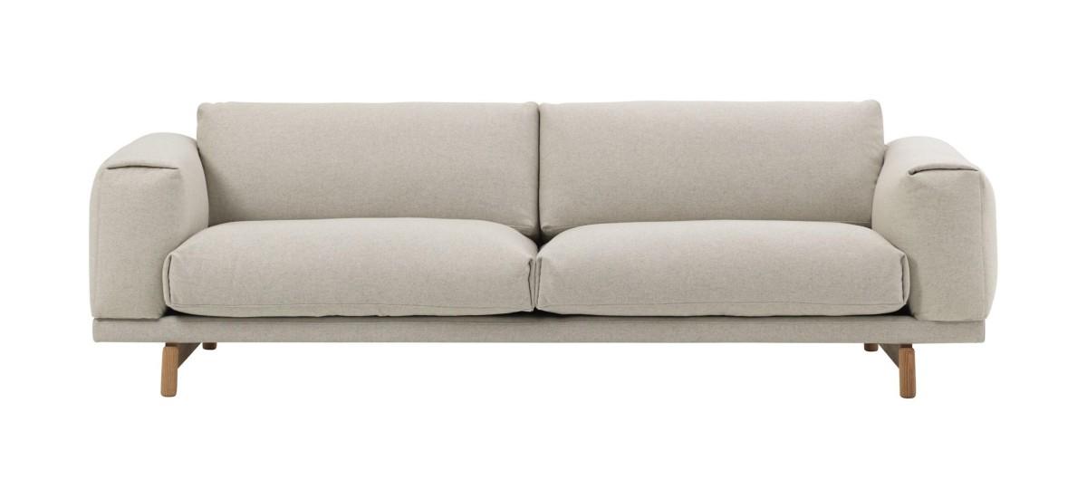 Muuto Rest Sofa · Wooly 2256 · 3 Personer
