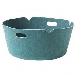 Muuto Restore Round Basket · Aqua