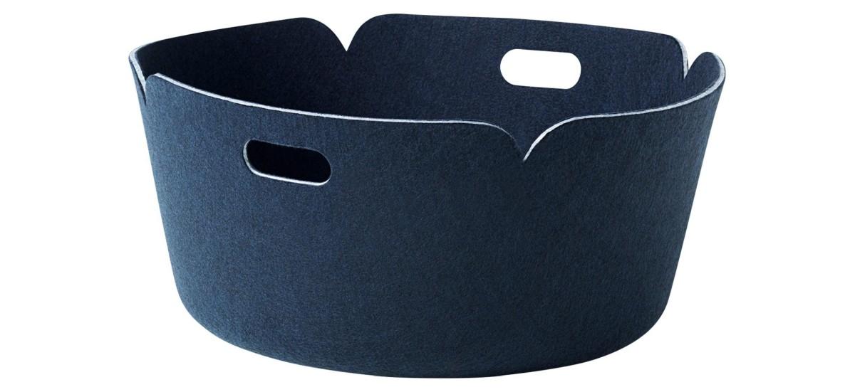 Muuto Restore Round Basket · Midnight Blue
