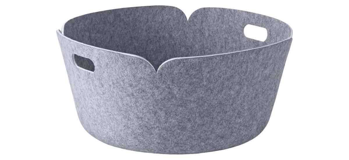 Muuto Restore Round Basket · Grå Melange