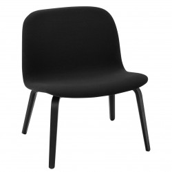 Muuto Visu Lounge Chair Fuldpolstret · Steelcut 190 · Sort