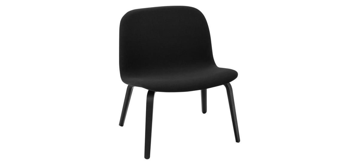 Muuto Visu Lounge Chair Fuldpolstret · Steelcut 190 · Sort