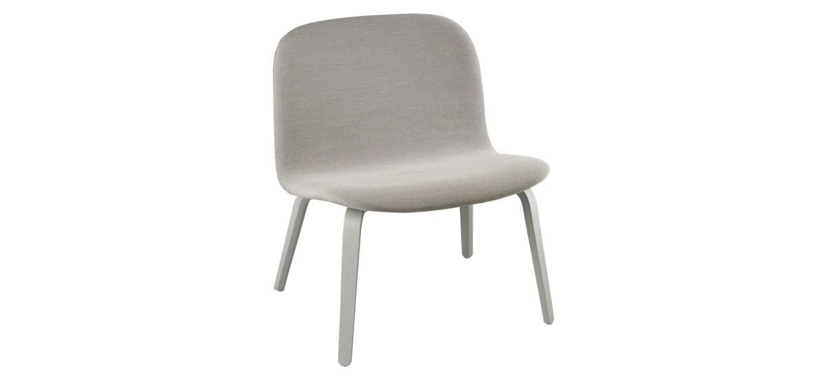 Muuto Visu Lounge Chair Fuldpolstret · Steelcut Trio 133 · Grå